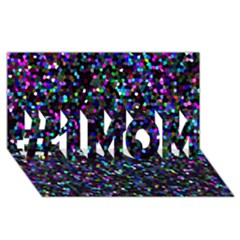 Glitter 1 #1 MOM 3D Greeting Cards (8x4)