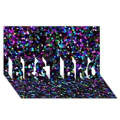 Glitter 1 BEST BRO 3D Greeting Card (8x4)