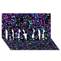 Glitter 1 BEST SIS 3D Greeting Card (8x4)