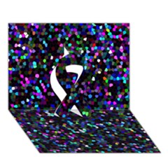 Glitter 1 Ribbon 3D Greeting Card (7x5)