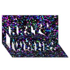 Glitter 1 Best Wish 3D Greeting Card (8x4)