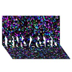 Glitter 1 Engaged 3d Greeting Card (8x4)