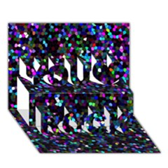 Glitter 1 You Rock 3D Greeting Card (7x5)