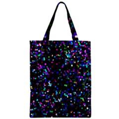 Glitter 1 Zipper Classic Tote Bags
