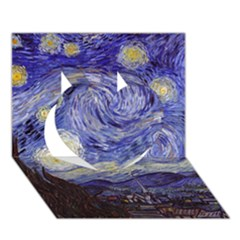 Van Gogh Starry Night Heart 3d Greeting Card (7x5)
