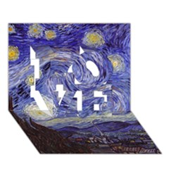 Van Gogh Starry Night LOVE 3D Greeting Card (7x5)