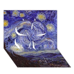 Van Gogh Starry Night Clover 3d Greeting Card (7x5)