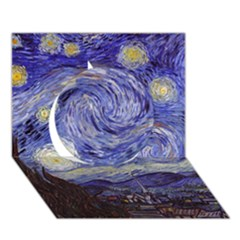 Van Gogh Starry Night Circle 3d Greeting Card (7x5)