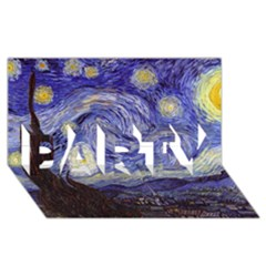 Van Gogh Starry Night PARTY 3D Greeting Card (8x4)
