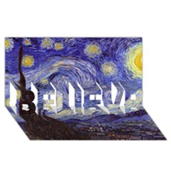 Van Gogh Starry Night Believe 3d Greeting Card (8x4)