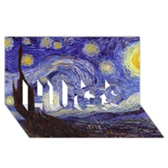 Van Gogh Starry Night HUGS 3D Greeting Card (8x4)