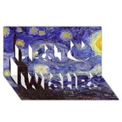 Van Gogh Starry Night Best Wish 3d Greeting Card (8x4)