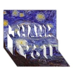 Van Gogh Starry Night THANK YOU 3D Greeting Card (7x5)