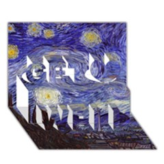 Van Gogh Starry Night Get Well 3d Greeting Card (7x5)