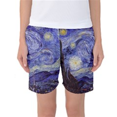 Van Gogh Starry Night Women s Basketball Shorts