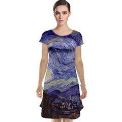Van Gogh Starry Night Cap Sleeve Nightdresses