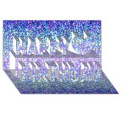 Glitter 2 Happy Birthday 3D Greeting Card (8x4)