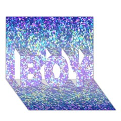 Glitter 2 BOY 3D Greeting Card (7x5)