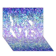 Glitter 2 LOVE 3D Greeting Card (7x5)