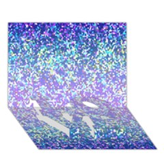 Glitter 2 Love Bottom 3d Greeting Card (7x5)