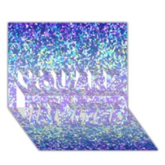 Glitter 2 YOU ARE INVITED 3D Greeting Card (7x5)