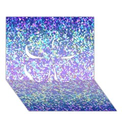 Glitter 2 Clover 3d Greeting Card (7x5)