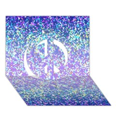 Glitter 2 Peace Sign 3D Greeting Card (7x5)