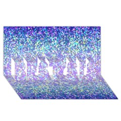 Glitter 2 BEST SIS 3D Greeting Card (8x4)