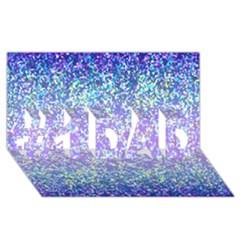 Glitter 2 #1 Dad 3d Greeting Card (8x4)