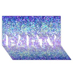 Glitter 2 PARTY 3D Greeting Card (8x4)