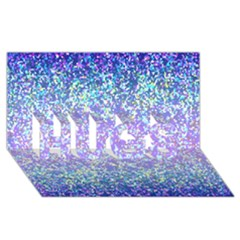 Glitter 2 HUGS 3D Greeting Card (8x4)