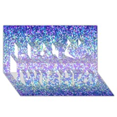 Glitter 2 Best Wish 3D Greeting Card (8x4)