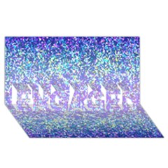 Glitter 2 ENGAGED 3D Greeting Card (8x4)