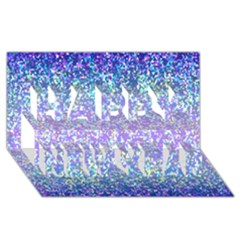 Glitter 2 Happy New Year 3D Greeting Card (8x4)