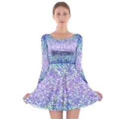 Glitter 2 Long Sleeve Skater Dress