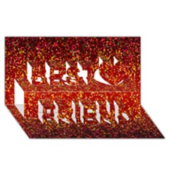 Glitter 3 Best Friends 3d Greeting Card (8x4)