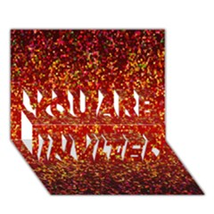 Glitter 3 YOU ARE INVITED 3D Greeting Card (7x5)