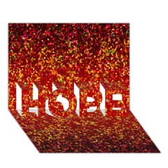 Glitter 3 HOPE 3D Greeting Card (7x5)