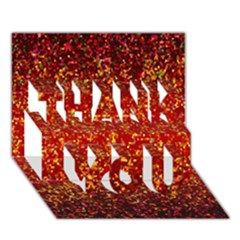 Glitter 3 Thank You 3d Greeting Card (7x5)