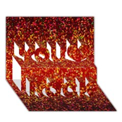 Glitter 3 You Rock 3D Greeting Card (7x5)