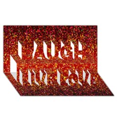 Glitter 3 Laugh Live Love 3D Greeting Card (8x4)