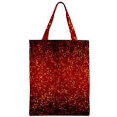 Glitter 3 Zipper Classic Tote Bags