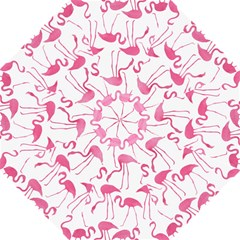 Pink Flamingos Pattern Hook Handle Umbrellas (large)