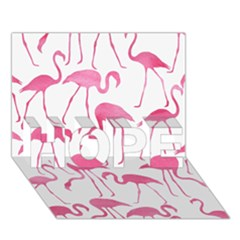 Pink Flamingos Pattern HOPE 3D Greeting Card (7x5)