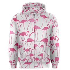 Pink Flamingos Pattern Men s Zipper Hoodies
