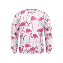 Pink Flamingos Pattern Boys  Sweatshirts