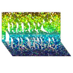 Glitter 4 Happy Birthday 3d Greeting Card (8x4)