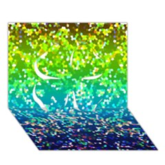 Glitter 4 Clover 3D Greeting Card (7x5)