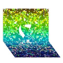 Glitter 4 Ribbon 3D Greeting Card (7x5)