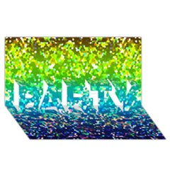 Glitter 4 Party 3d Greeting Card (8x4)